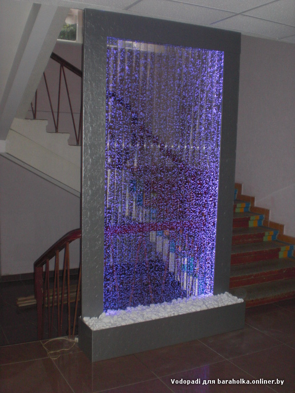 Водопад по стеклу сделать своими руками 5