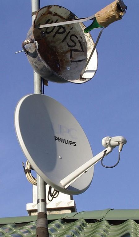 делаем интернет из супутниковой антены сначала бензине поймать