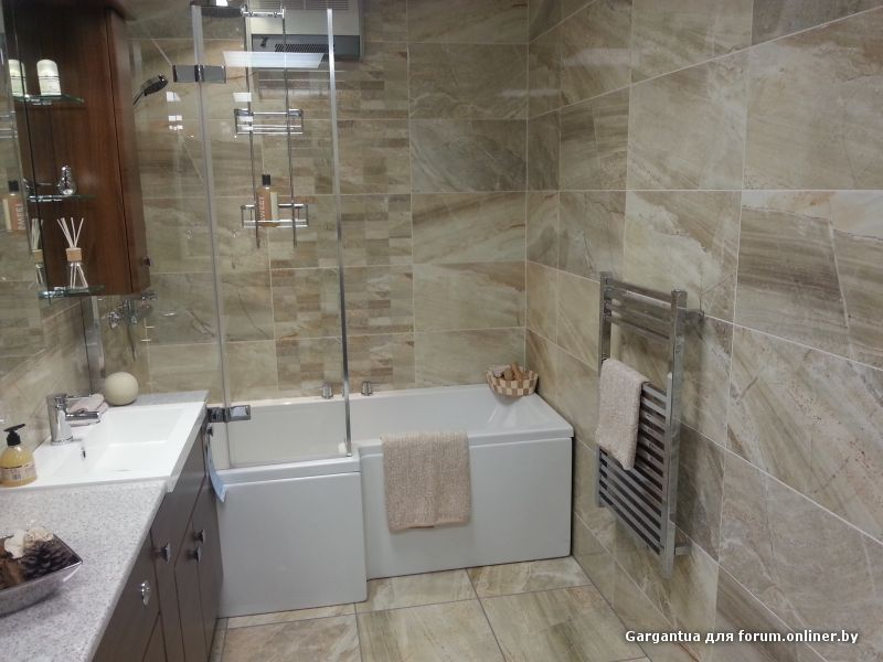 Coordinating Bathroom Floor And Wall Tile :