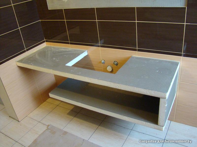 Полка в ванной под раковину своими руками 17