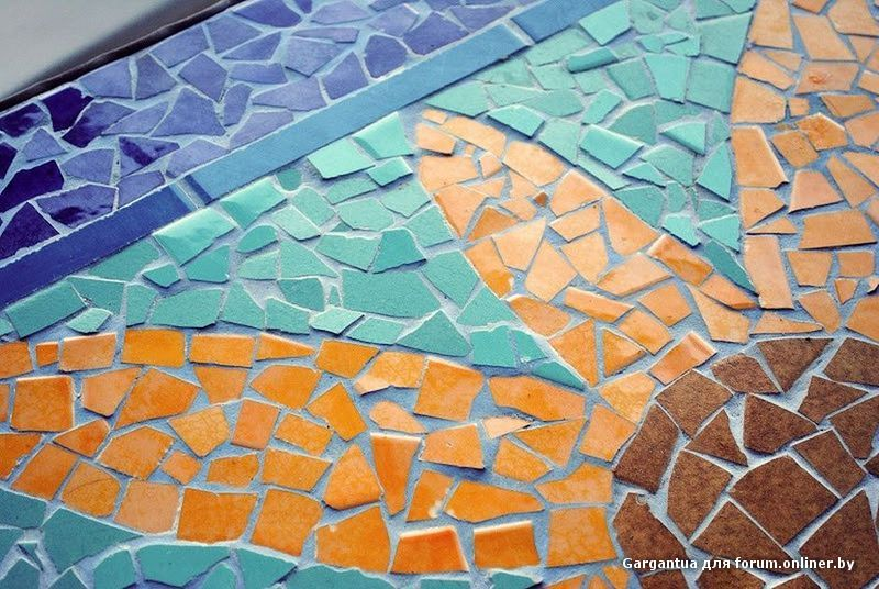 Мозаика своими руками из битой плитки фото