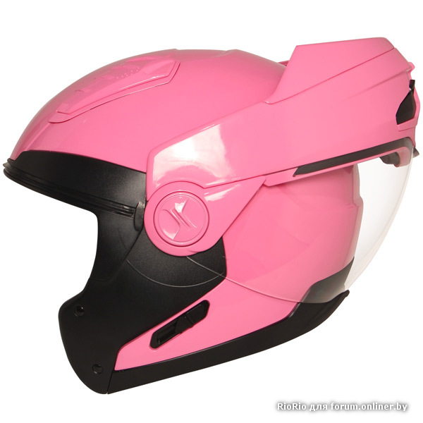 Женский мотошлем модуляр Hawk ST-1198 Transition Pink.
