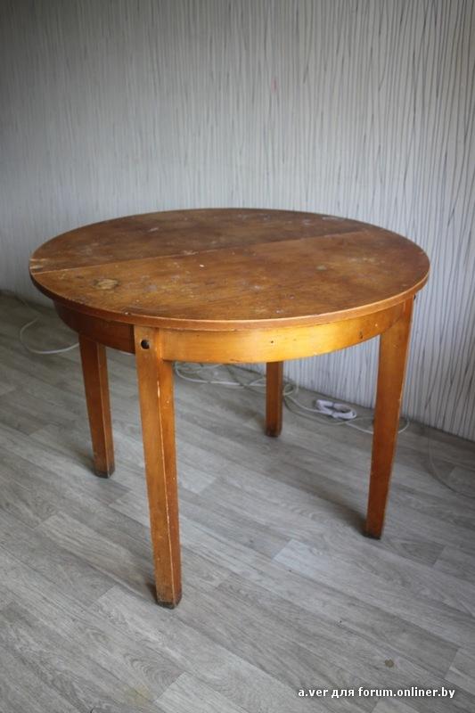 Круглый старый стол реставрация