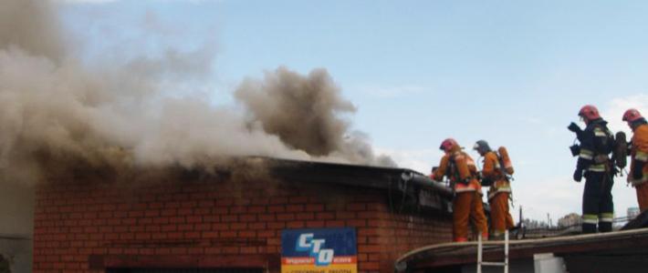 В Минске горела СТО на ул. Гурского