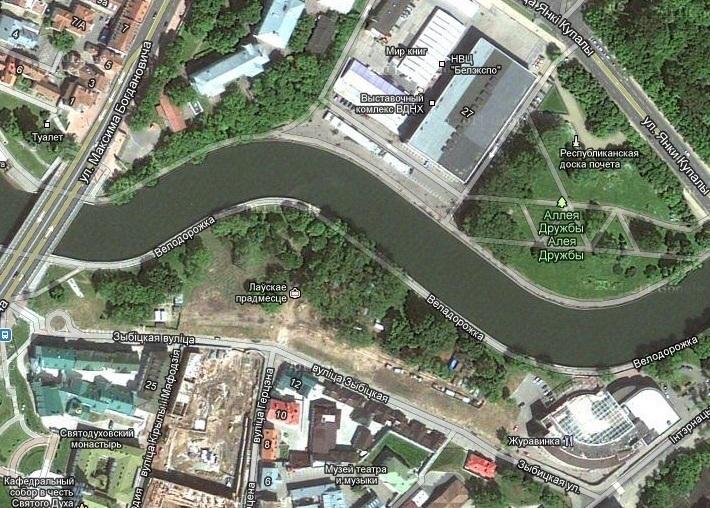 А это парк 900-летия Минска,
