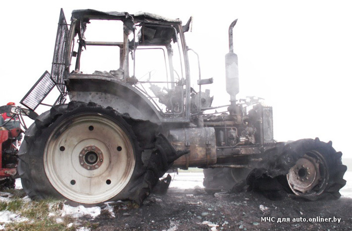 Загорелся трактор | Глуск | Глусский район | Погода в.