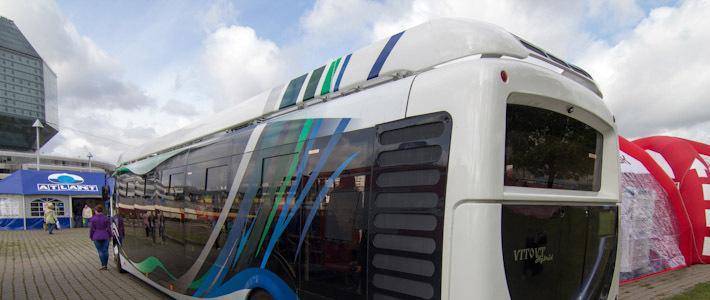 новый гибридный автобус. «