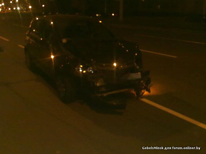 Минск: байкеры задержали скрывавшегося после ДТП водителя Opel