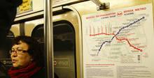Фотофакт: в минском метро появились схемы с новыми станциями, отмеченными в качестве действующих.
