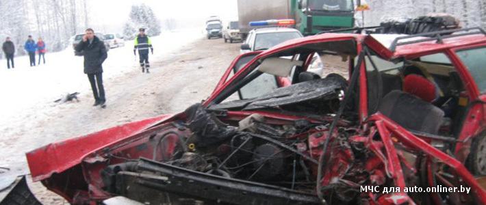 В Осиповичском районе лоб в лоб столкнулись Opel и Volkswagen