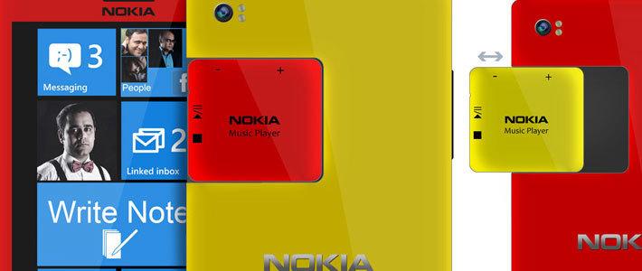 Дизайнер показал планшетофон Nokia Note со съемным плеером