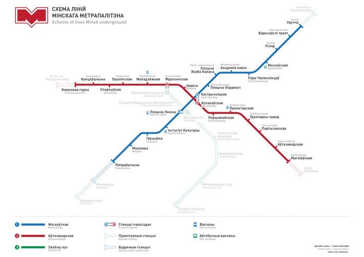 стиль схемы метро за свой