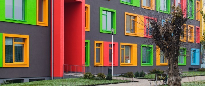 В Киеве строят разноцветный «Комфорт Таун»