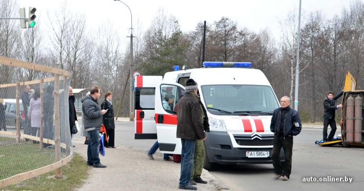 В Бресте перевернулась маршрутка - 6 человек травмировано.