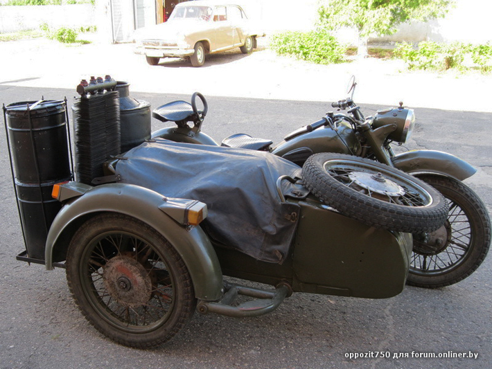 мотоцикл с двигателем на дровах.