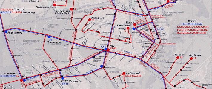 схему движения по маршруту