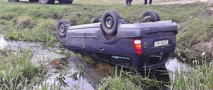 Очевидец: Ford «аккуратно» перевернулся в кювете, почти не получив повреждений