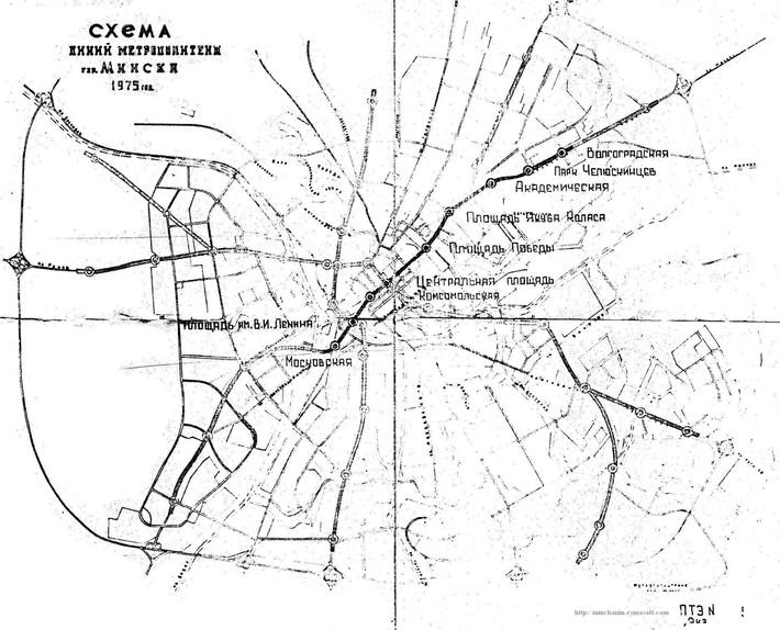 Вот таким был проект метро