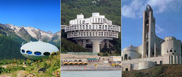 Ракеты, корабли, летающие тарелки, цветы и роботы: топ-25 фантастических советских зданий