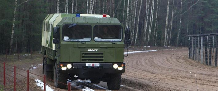Первая белорусская машина для пограничников «Волат» получила кондиционер и систему подкачки шин