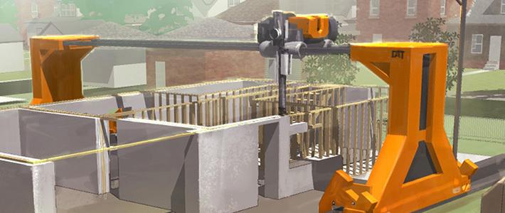 Калифорнийские ученые разработали технологию, позволяющую печатать на гигантском 3D-принтере дома из бетона