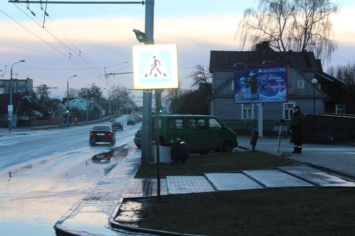 В Гродно на переходах размещают камеры - ГАИ будет следить за пропуском пешеходов