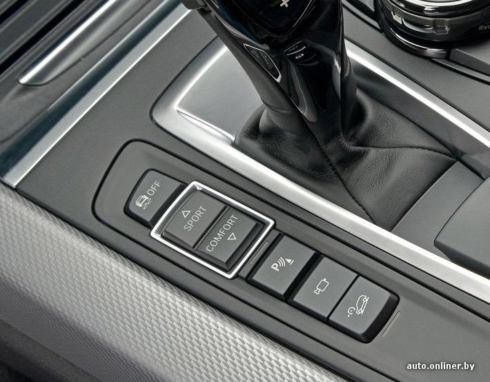 Автомобиль имеет четыре режима езды: Eco Pro, Comfort, Sport и Sport+. Переключаются они клавишами возле рычага КП