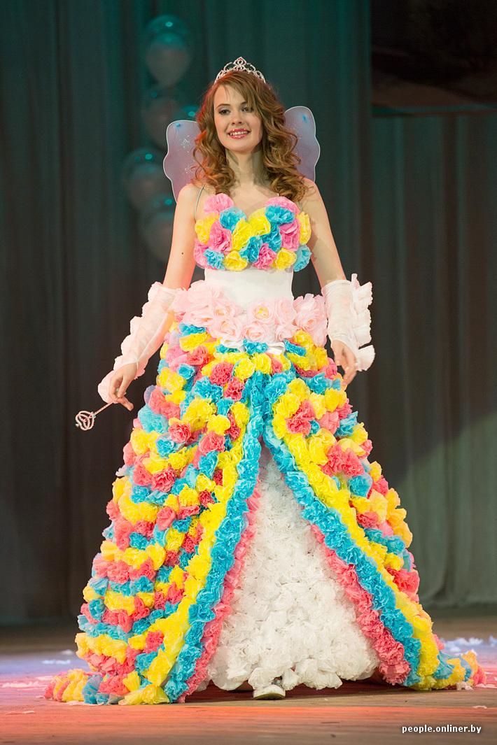 Платье из подручных на конкурс