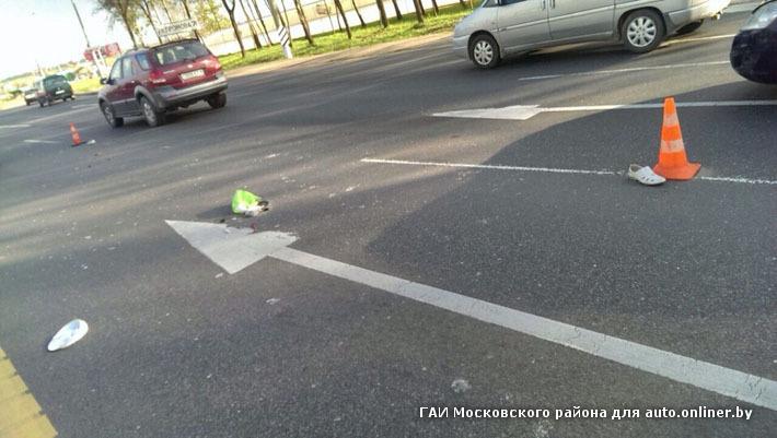 renault сбил пешехода мкад