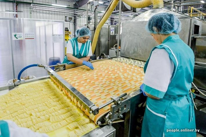 Как делают чипсы в Беларуси