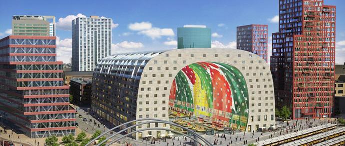В Нидерландах строят гибрид крытого рынка и жилого дома