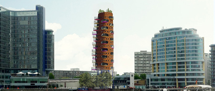 В Лондоне построят жилую высотку, похожую на гигантскую морковь