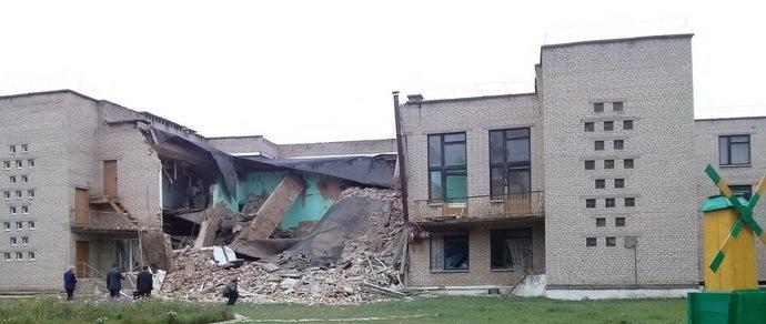 В Кричевской гимназии обрушился потолок. Следственным комитетом возбуждено уголовное дело