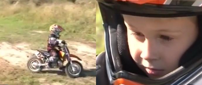 5-летний мотогонщик из Кобрина получил свой первый профессиональный контракт