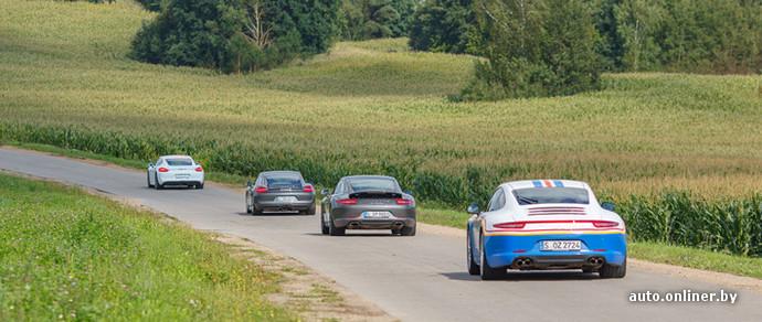Фоторепортаж: Porsche устроила «покатушки» по белорусским дорогам общего пользования