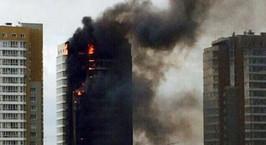 Страшный пожар: в Красноярске горит 25-этажный дом