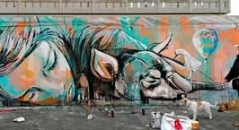 Граффитисты разрисуют фасады многоэтажек в Гродно