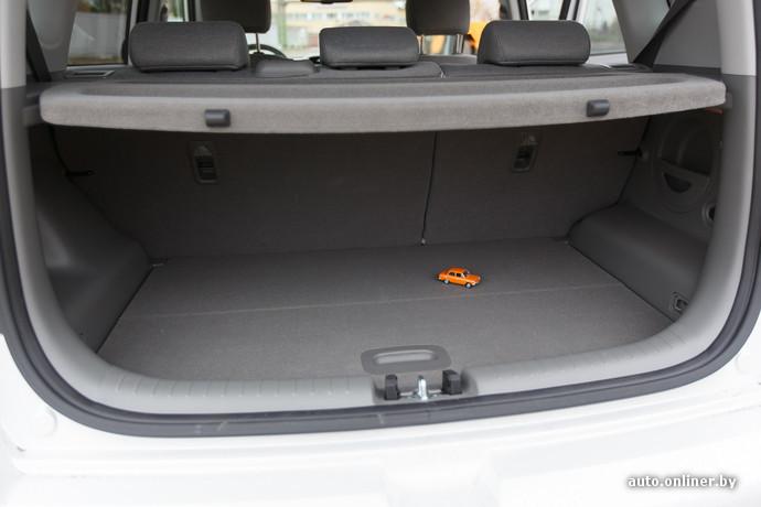 Багажник имеет объем 154 литра. Это на 70 литров меньше стандартной версии Soul