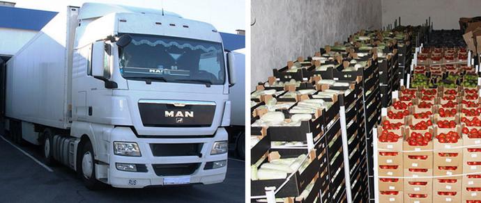 Фотофакт: брестские таможенники изъяли на границе 100 тонн польских яблок, груш и слив, которые везли в Россию