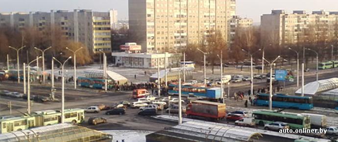Сразу две аварии с участием трамваев произошло в Минске