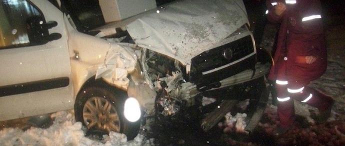 Лидский район: столкнулись Fiat и Skoda — понадобилась помощь спасателей