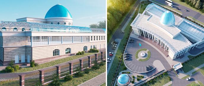 Голубые купола и восточные орнаменты: недалеко от ТРЦ «Замок» построят посольство Казахстана