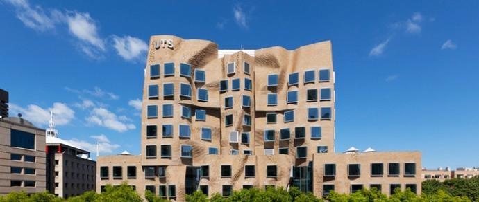 в Сиднее построили университетский корпус с «мятым» кирпичным фасадом