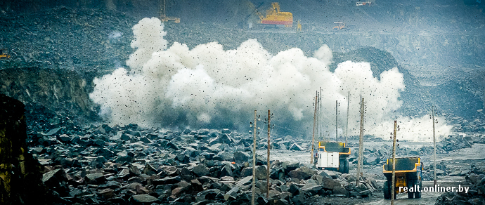 Большой взрыв: репортаж о разрушении пород