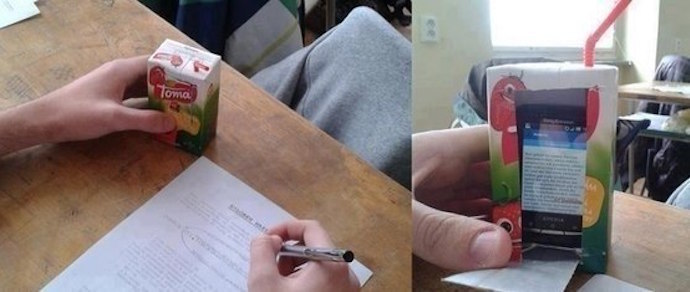 Как списать с телефона на экзамене