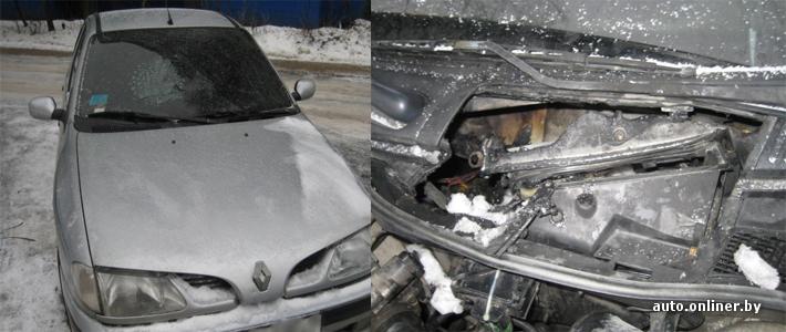 МЧС, повреждены двигатель, лобовое стекло, панель приборов, закопчен.