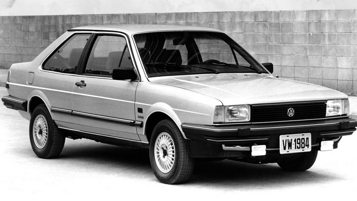 Двухдверный Volkswagen Santana выпускался с 1984 по 1987 год в основном для рынка Южной Америки