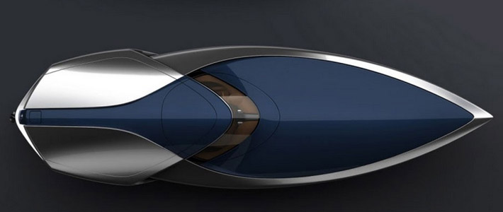 Дизайнер PSA разработал проект катера Bugatti