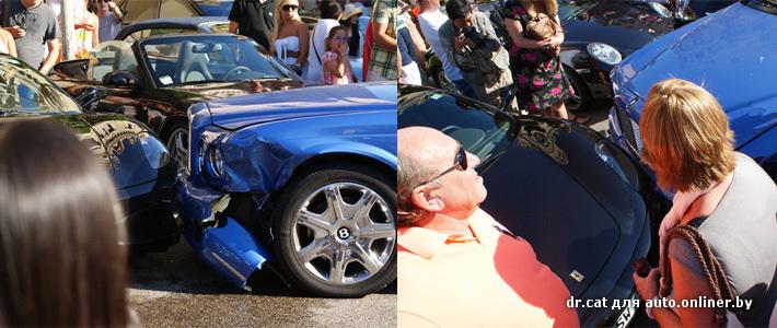 VIP-авария в Монако: повреждены Bentley, Aston Martin, Ferrari, Porsche и Mercedes (фото)