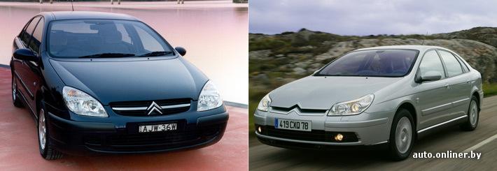 Citroen C5 до и после рестайлинга (2004 год)
